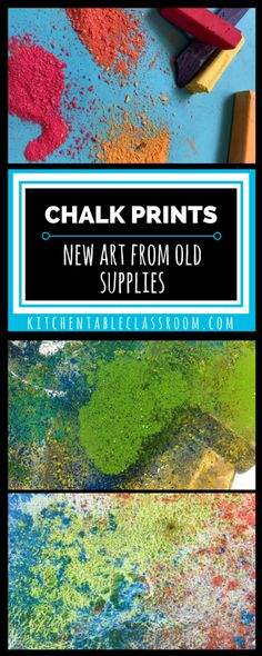 Minimal materials, only a wee bit of mess and you've got yourself some fun process art. Enjoy the making of this pretty chalk printed paper!