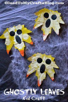 Ghostly Leaves {Kid Craft}