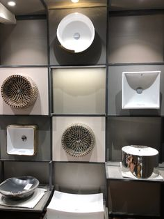 Sanitarware#basin#display#contemporary#steelframework#lighting#vertical#showroom Bathroom Store, Bathrooms, Office Design Concepts, Bath Showroom, Ceramic Store, Showroom Interior Design, Bathroom Showrooms, Lighting Showroom, Bathroom Design Inspiration