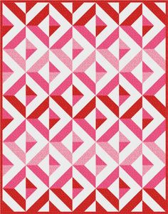 Diamond Day quilt, Sweetheart colorstory. Made with Spot On. Designed by Robert Kaufman Fabrics. Pattern is available for FREE through Robert Kaufman Fabrics.