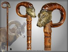 walking canes | ... ART NATURAL HANDLE WOOD WOODEN CARVED CRAFTED WALKING STICK CANE STAFF