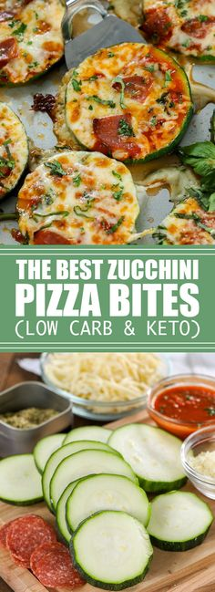 Zucchini Pizza Bites are one of our favorite snacks! These delicious pizza bites are topped with our favorite toppings and plenty of cheese for the perfect low carb pizza fix! Zucchini Pizza Happen, Zucchini Pizza Recipes, Zucchini Pizza Bites, Vegan Pizza, Vegan Keto, Paleo, Pizza Snacks, Keto Snacks, Best Low Carb Recipes