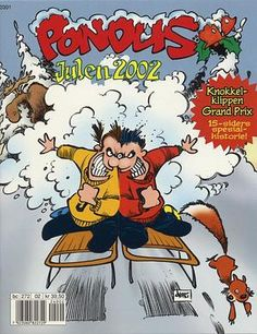 """Pondus Julehefte 2002 - (Pondus! Vi har fått besøk!)"" av Frode Øverli Comic Books, Comics, Reading, Cover, Reading Books, Cartoons, Cartoons, Comic, Comic Book"