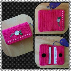 ♥ CROCHETED BUSINESS / CREDIT CARD HOLDER (FLOWER) ♥ --->>> Visit Andreea's Crafty Boutique!