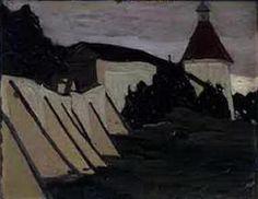 Terem van Yaroslavna.  Door de kloostermuur.  - Nicholas Roerich