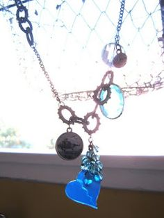 Recycled plastic bottle broken heart necklace