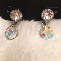 Faux Diamond Earrings These earrings are brand new with tags. Never been worn. Charming Charlie Jewelry Earrings