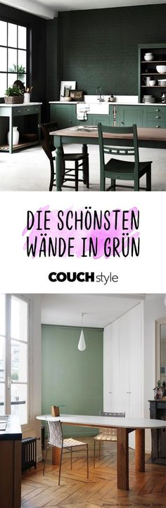 Wandfarbe Grün: Wir Lieben Die Trendfarbe Für Unsere Wände Und Gestalten  Sie In Den Schönsten