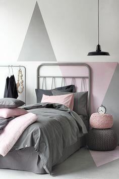Mais uma ideia para a pintura de paredes: desenhos geométricos