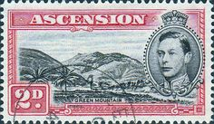 Ascension 1938 George VI Fine Mint Scott 43a Long Beach Scott 43C  Other Ascension island stamps HERE