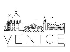 Venice Skyline Vinyl wall art, assorted sizes and colors available.