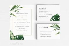 Faire-part mariage botanique minimaliste - Feuille - Lyon-mariage.com
