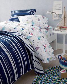 Dream Boats Percale Bedding