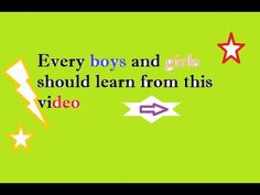 What Every Boys and Girls Should Know | Thumps up