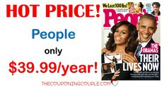 BEST DEAL AROUND! People Magazine for only $39.99 per year! That is only $0.80 per issue! Save over $350 a year off the cover price! What a great gift idea for  Father's Day!  Click the link below to get all of the details ► http://www.thecouponingcouple.com/people-magazine-only-54-99year-reg-399-00/ #Coupons #Couponing #CouponCommunity  Visit us at http://www.thecouponingcouple.com for more great posts!