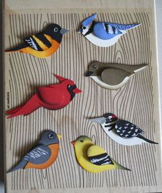 Stampin' Up!  Bird Punch  Kristin Moore  Flock  Wow, creative genius using one bird punch. Love this flock of birds.