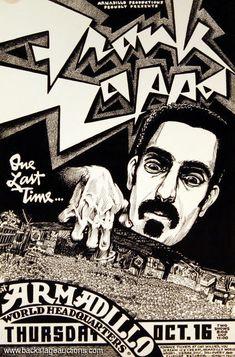 Zappa - 1980 10 16 'Armadillo World Headquarters', Austin, TX, usa Austin Music, Austin Tx, Frank Zappa, Concert Posters, Music Posters, Concert Tickets, Art Posters, Frank Vincent, Rock Band Posters