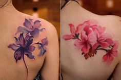 Floral tattoos by Chen Jie