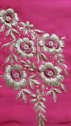 Colors & Crafts Boutique™ offers unique apparel and jewelry to women who value versatility, style and comfort. We specialize in customized attires crafted in h Zardosi Embroidery, Hand Embroidery Dress, Couture Embroidery, Embroidery Suits, Embroidery Fashion, Border Embroidery Designs, Embroidery Patterns, Caftan Gallery, Sleeves Designs For Dresses