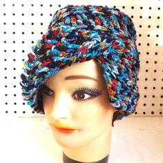 Denim Blue Crochet Hat Flap Hat Crochet Beanie Hat Denim Plus Blue Hat Crochet Blue Hat African Hat CLAIRISSE Beanie Hat by strawberrycouture by #strawberrycouture on #Etsy