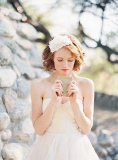 Pearl Adorned Bridal Hat - © SIBO Designs Bridal Adornments & Veils