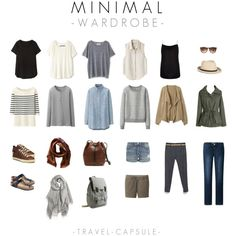 travel capsule - minimal wardrobe