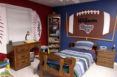 footbal fan, footbal room, boy bedroom, little bedroom ideas football, kid rooms, boy rooms, taylor, kid stuff, football room ideas
