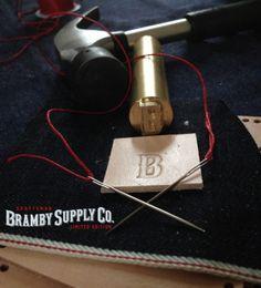Work in progress ..!!! BrambySupplyCo. Leather + Selvedge - Montgat Barcelona #leather #leathergood…