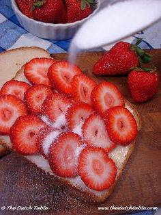 The Dutch Table...strawberry sandwiches Memories of my childhood.