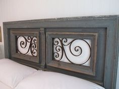 Original headboard designed from antique architectural elements - eclectic - headboards - other metro - by Charles Phillips Antiques and Arc...