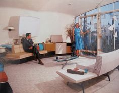"""""""The Monsato Home of the Future"""" at Disney, 1957-67.  (from the Mid-Centuria tumblr)"""