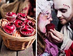 Anatomical heart cupcakes