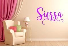 Girls Name Decal Decal For bedroom Name by PersonalizedbyDawn
