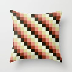 Available on more Products! Throw Pillow made from 100% spun polyester poplin fabric, a stylish statement that will liven up any room. Individually cut and sewn by hand, each pillow features a double-sided print and is finished with a concealed zipper for ease of care.  Sold with or without faux down pillow insert.  @society6 #art #abstract #pattern #red #black #yellow #throw #pillow #home #decor #modern #style #fashion #shop #buy