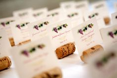 Sweet wine place cards
