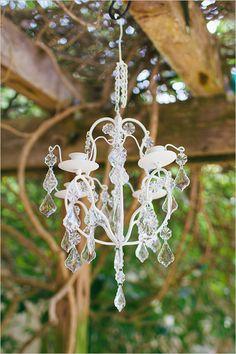 Ceremony chandelier decor @weddingchicks
