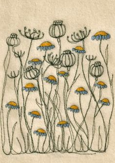 amazing embroidery designs Freehand Machine Embroidery, Free Motion Embroidery, Hand Embroidery Stitches, Free Machine Embroidery, Embroidery Applique, Cross Stitch Embroidery, Embroidery Designs, Flower Embroidery, Knitting Stitches