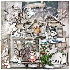 "Photo from album ""Winter Music"" on Yandex. Free Digital Scrapbooking, Digital Scrapbook Paper, Scrapbook Kit, Digital Papers, Leaf Template, Crown Template, Flower Template, Digital Project Life, Scrapbook Patterns"