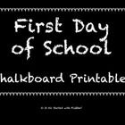 Use these adorable printables to make the first day of school special for your students - or for your own children!  Included is a chalkboard sign ...