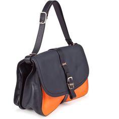 Victoria Beckham Two-Tone Leather Shoulder Bag ($2,755) found on Polyvore