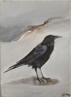 Crow, original painting by Karn of Tintabernacle