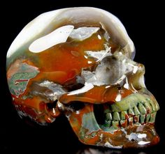 You are looking at an Indian agate skull. The skull is inches long from front to back. Indian Agate, Crystal Skull, Crystal Healing, Sculpture Art, Carving, Crystals, Skulls, Ebay, Minerals