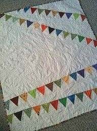 Quilting idea for the fabric left over from Mom's quilting stuff ...  Maybe full size free-motion quilts or baby, lap size or pillows ... good use of the left over scraps and large pieces.
