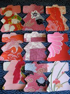 Handmade Japanese vintage kimono silk greeting by KIMONOCARDS, $10.00