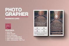 Photographer Business Card by Marvel on @creativemarket
