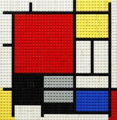 Piet Mondriaan painting in Legos