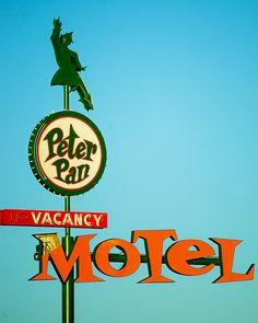 Vintage Las Vegas Peter Pan Motel Sign, 119 N. 13th Street, downtown