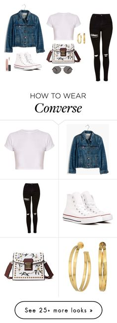 """Untitled #1374"" by alex-gucka on Polyvore featuring Topshop, Madewell, Converse, Seafolly, Tory Burch and MAC Cosmetics"