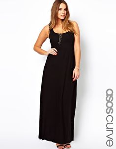 ASOS CURVE Exclusive Vest Maxi Dress for Rehearsal Dinner!