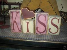 Google Image Result for http://i.ebayimg.com/t/PRIMITIVE-VALENTINE-BLOCK-SIGN-KISS-HEART-BLOCKS-/22/!BjhSF-wBmk~%24(KGrHqQH-CgEs7cWYKPUBLT3zOno6Q~~_35.JPG